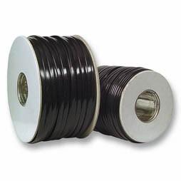 Modular-Flachbandkabel 8-adrig I.Farb., ungeschirmt, schwarz, 100m-Rolle, Good Connections®