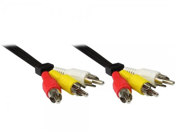 Video-Audio-Verb. 3 X Cinch St. / 3 X Cinch St. Länge: 15m, Good Connections®