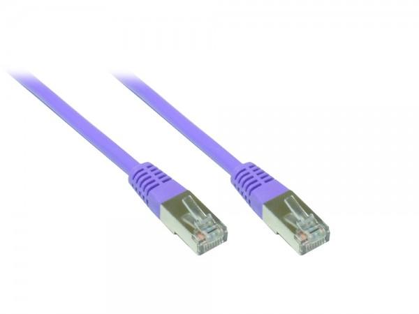 Patchkabel, Cat. 5e, SF/UTP, 100MHz, violett, 20m, Good Connections®
