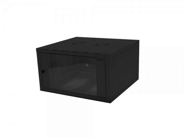 """19"""" Wandgehäuse einteilig 12HE 600X560mm, schwarz, LogiLink® [W12E66B]"""