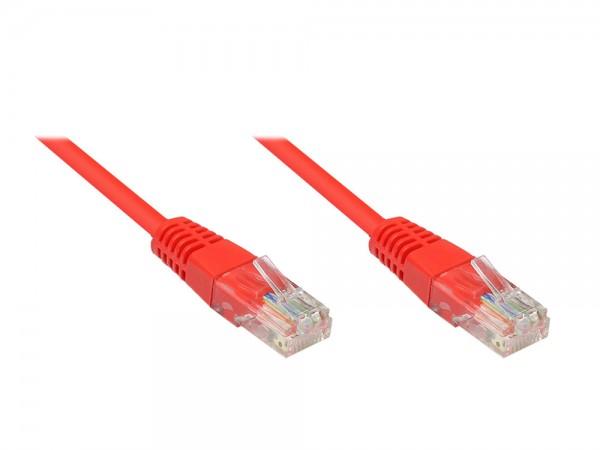 Patchkabel, Cat. 5e, U/UTP, rot, 25m, Good Connections®