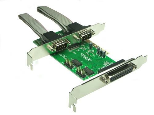 Combo Schnittstellenkarte, 2 x Seriell / 1 x Parallel, 32-Bit, PCI