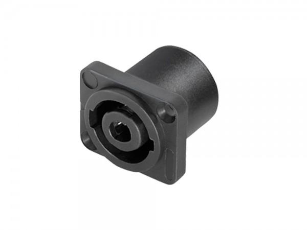 PA Lautsprecher-Einbaukupplung, 4-pol, eckig für Lautsprechergehäuse, Good Connections®