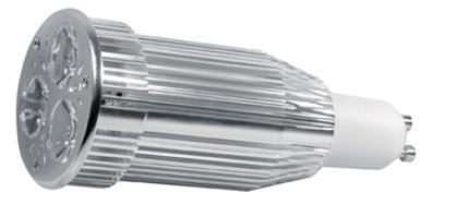 Power LED, GU10, 230V, 9W, 350lm, Ø 50 x 117mm, 3000K, Abstr