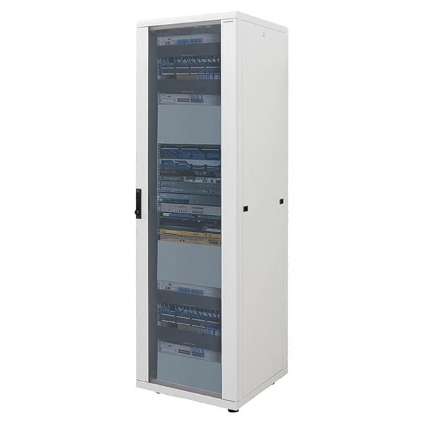 """19"""" Netzwerk Standschrank, 42HE, 600x1000mm, grau, LogiLink® [D42S61G]"""