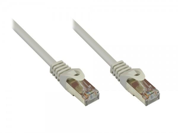 RNS® Patchkabel mit Rastnasenschutz, Cat. 5e, SF/UTP, PVC, 100MHz, grau, 15m, Good Connections®