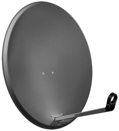 Alu-Satellitenspiegel, 65 cm, anthrazit