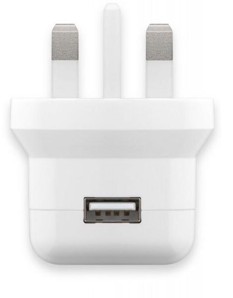 UK USB-Ladegerät, 1 Port, 2,1A, weiß