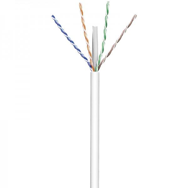 Installationskabel Cat 6, U/UTP, PVC, 250MHz, 4x2xAWG23/1, grau, 100m, Good Connections®