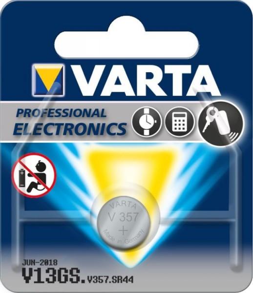 Varta® Knopfzelle (V13GS/357) Silberoxid-Zink, SR44, 1,55V, 155mAh