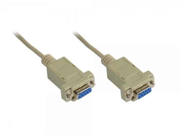 Nullmodem Kabel, 9-pol Buchse / Buchse, Länge: 3m, Good Connections®