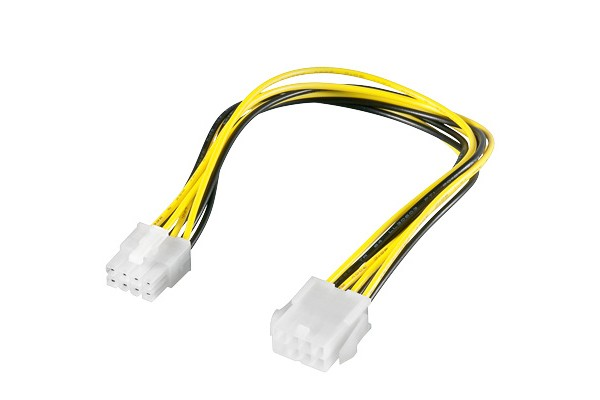 PCI Express Verlängerung, 8pol EPS Buchse an 8pol EPS Stecker, Good Connections®