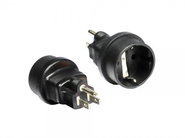 Adapter Schutzkontakt-Buchse an US-Stecker, Good Connections®