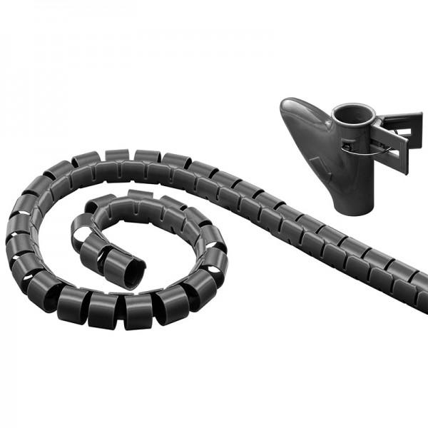 WireTube, robuster Spiralschlauch gegen den Kabelsalat, 2,5m, schwarz