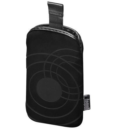 Universal Stofftasche mit Ausziehlasche, schwarz, Außenmaß: 75 x 120 mm