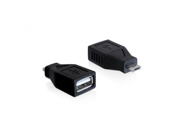 Adapter USB micro B Stecker an USB A Buchse, Delock® [65296]