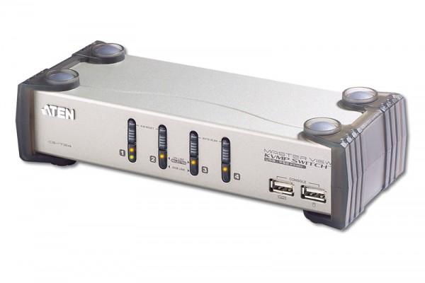 Aten® KVM-Switch USB+Audio, 4PC an 1 Arbeitsplatz, CS-1734B
