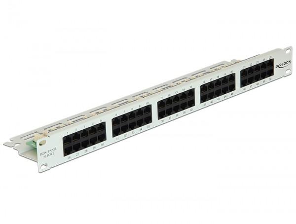 "19"" Patchpanel 50 Port Cat.3 ISDN grau, Delock® [43030]"