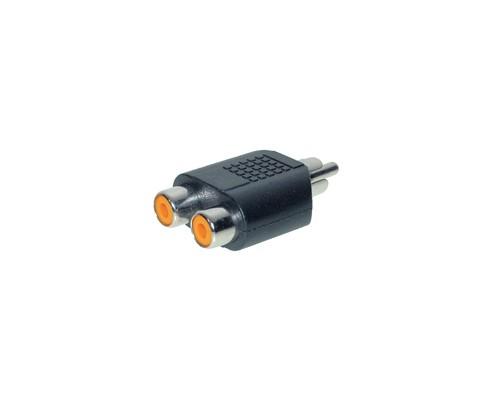 Audio Adapter 2 X Cinch Buchse / 1 X Cinch Stecker, Good Connections®
