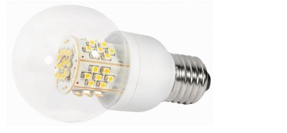 LED Lampe, 3,5W, 230V, 200 lm, 3000K, (warmweiß), dimmbar, A+, >270° Abstrahlwinkel