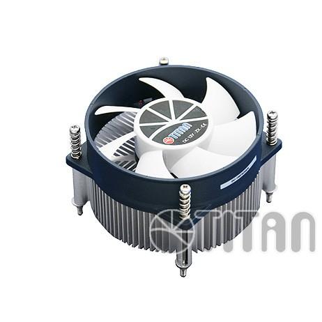 Titan® Aktiv-Kühler für Intel LGA 1156 core i5 unterstürzt bis 95W CPU mit Z-Lager Lüfter mit Backplate