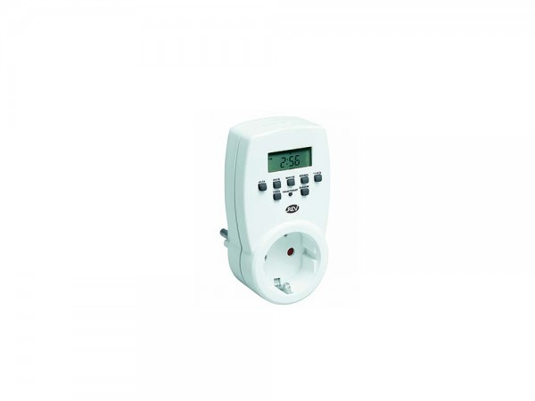 Zeitschaltuhr digital, 230 V, 20 Schaltzeiten/Tag, weiß, REV®