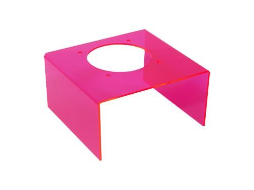 Transparenter Gehäusedeckel für Netzteile, pink