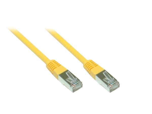 Patchkabel, Cat. 5e, F/UTP, gelb, 9m, Good Connections®