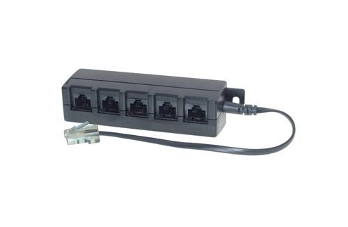 ISDN 5-fach Verteiler mit 0,1 kOhm Widerstand + 0,2m Kabel
