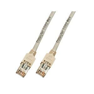 Patchkabel, Cat. 5e, S/UTP, 300 MHz, Dätwyler® UNINET Flex 5502 4P, Hirose TM11, grau, 2,5m