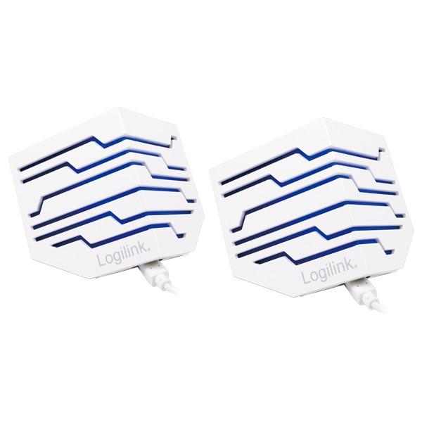 Aktivlautsprecher, 2.0 Stereo, beleuchtet, weiß, Logilink® [SP0022]