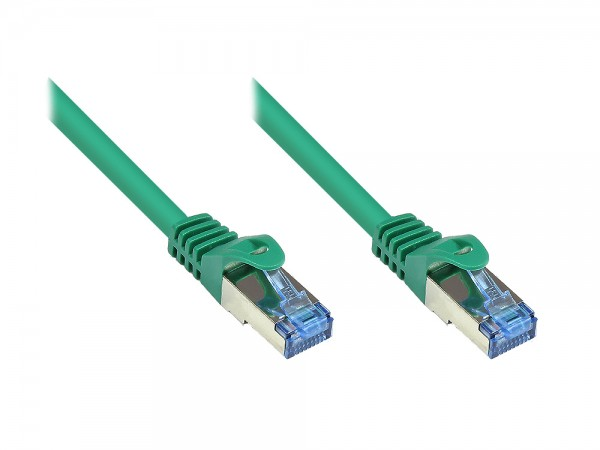 RNS® Patchkabel mit Rastnasenschutz, Cat. 6A, S/FTP, PiMF, halogenfrei, 500MHz, grün, 50m, Good Connections®