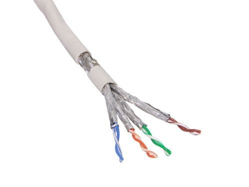 Verlegekabel, Cat. 7, S/FTP, PiMF, halogenfrei, 600MHz, grau, 100m Rolle, Good Connections®
