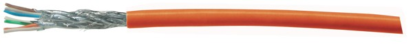 Verlegekabel, Cat. 7, S/FTP, PiMF, halogenfrei, orange, 500m Rolle, Good Connections®