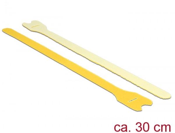 Klett-Kabelbinder L 300mm x B 12mm, 10 Stück, gelb, Delock® [18700]