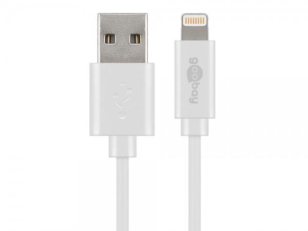 USB Sync- & Ladekabel für iPod, iPhone, iPad, weiß, 3m