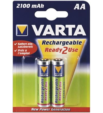 Varta® Akku (READY 2 USE) Ni-MH Mignon (AA) 1,2V 2100mA (56706), 2er Pack in Blister