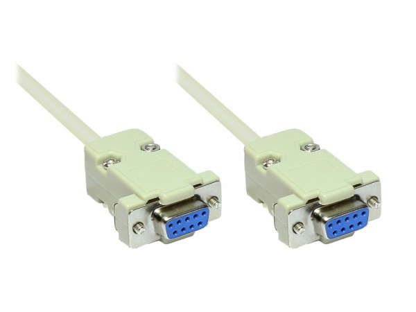 Serielle Verbindung 9-Pol Buchse an Buchse 1:1 Länge: 3m, Good Connections®