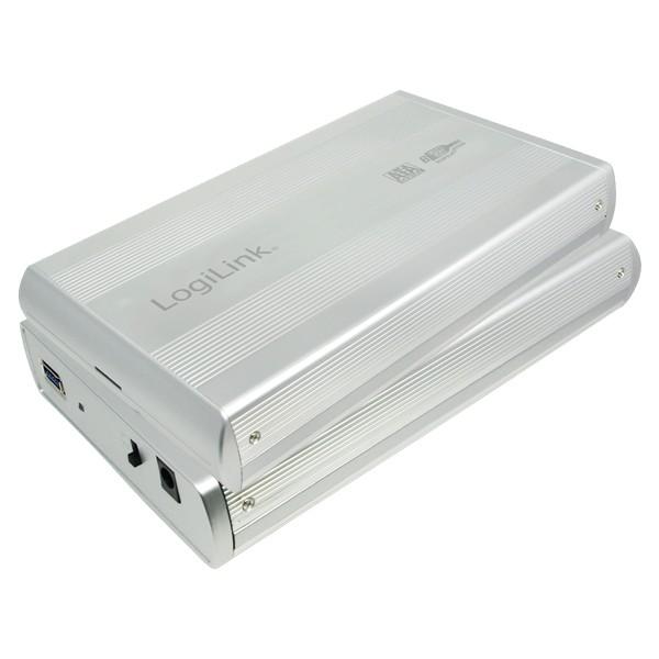 "Festplattengehäuse, extern, USB 3.0, geeignet für 3,5"" SATA HDD, silber, Logilink® [UA0107A]"