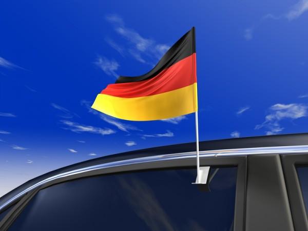 Autofahne Deutschland, Maße: 45cm (B) x 30cm (H)