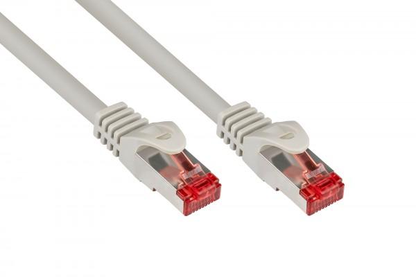 RNS® Patchkabel mit Rastnasenschutz, Cat. 6, S/FTP, PiMF, PVC, 250MHz, grau, 15m, Good Connections®