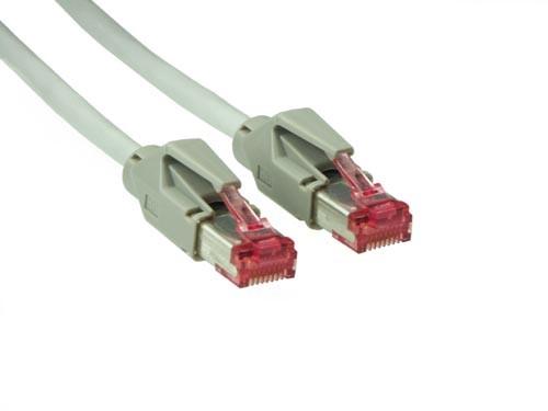 Patchkabel, Cat. 6, S/FTP, PiMF, halogenfrei, 600MHz, Hirose-Stecker, 15m, Good Connections®