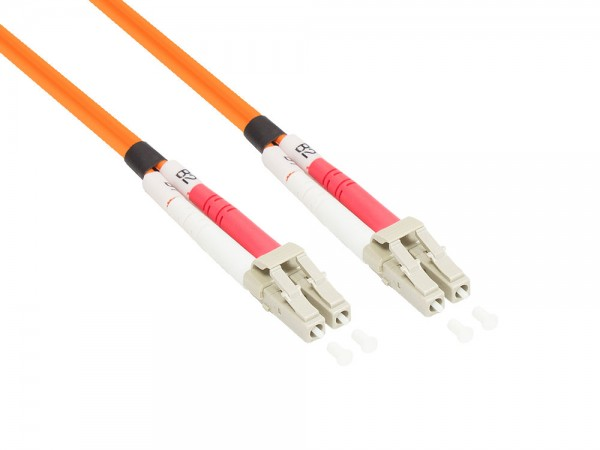 Patchkabel LWL Duplex OM2 (Multimode, 50/125) LC/LC, 1m, Good Connections®