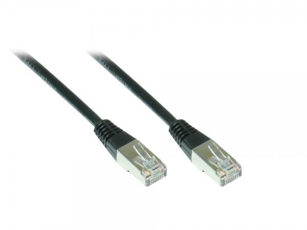 Patchkabel, Cat. 5e, F/UTP, schwarz, 10m, Good Connections®