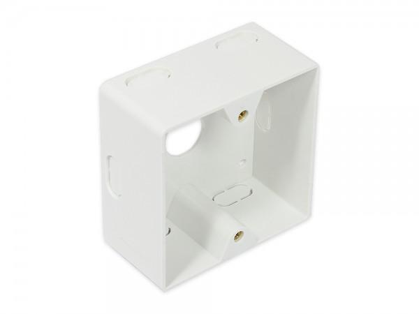 Aufputzgehäuse, 80x80x40mm, signalweiß RAL9003, Good Connections®