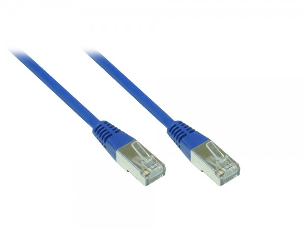 Patchkabel, Cat. 5e, F/UTP, blau, 5m, Good Connections®
