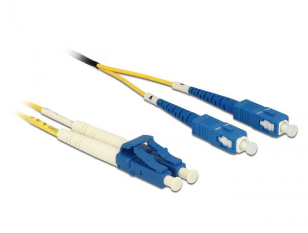 Kabel Lichtwellenleiter LC an SC Singlemode OS2, 2m, Delock® [84610]