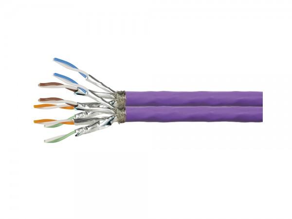 Verlegekabel Cat. 7A S/FTP 1200 MHz Duplex, 2x (4x2xAWG23), PrimeLine, LSZH, violett, 500m, LogiLink® [CQ6500D]