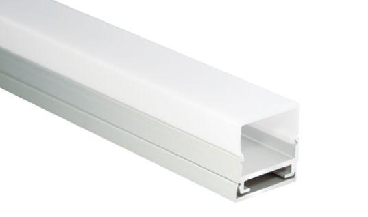 Al-Profil für LED-Leisten, 19,5 x 20mm, 1,9m