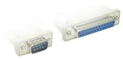 Serielles Adapterkabel, 9pol Stecker 25pol Buchse, Good Connections®